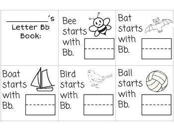 Alphabet Mini-books: Writing