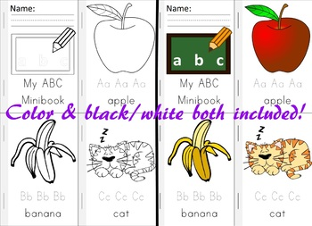 Alphabet Minibook with Letter Tracing