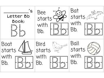 Alphabet Minibooks: Tracing