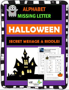 Alphabet Missing Letter - Halloween Secret Message & Riddles