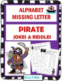 Alphabet Missing Letter -  PIRATES Riddles & Jokes