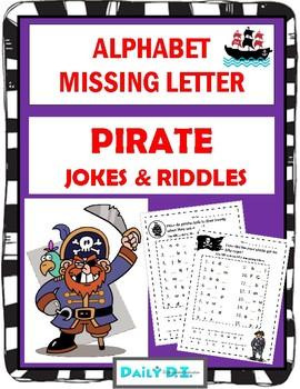 Alphabet Missing Letter -  PIRATES Riddles & Jokes