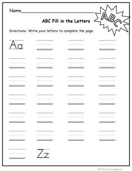 Alphabet Missing Letter Printables