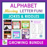 Alphabet Missing Letter -  Riddles & Jokes GROWING BUNDLE