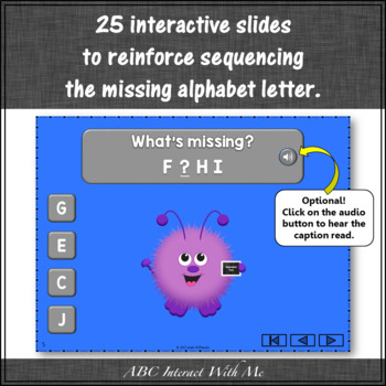 Alphabet Missing Letters Interactive Alphabet Game {Monsters}