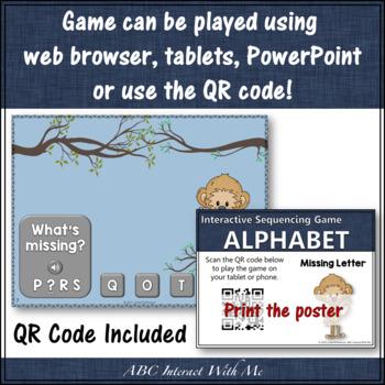Alphabet Missing Letters Interactive Alphabet Game {Dancing Monkey}