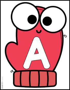Alphabet Mitten Letter Mats