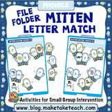 Alphabet - Mitten Themed File Folder Alphabet Match