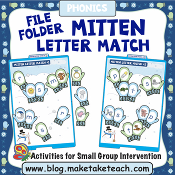 Alphabet - Mitten Themed File Folder Alphabet Match