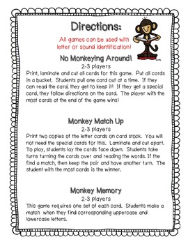 Alphabet Monkey Match