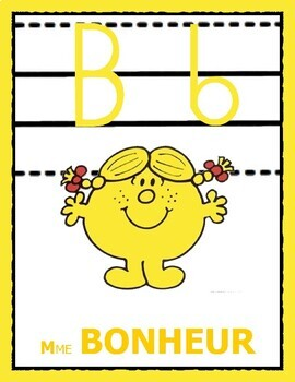 Alphabet Monsieur Madame pour la classe - (Script)