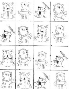 Alphabet Monster Flash Cards