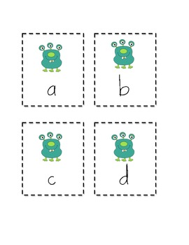 Alphabet Monster Lower Case Cards
