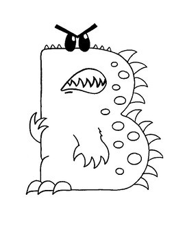 Alphabet Monsters Coloring Pages