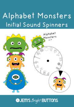 Alphabet Monsters Spin the Wheel Spelling or Phonics Task