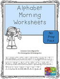 Alphabet Morning Activities Worksheets (Upper & Lower Case