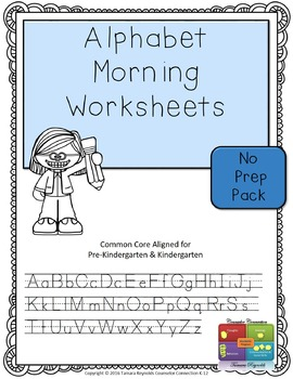 Alphabet Morning Activities Worksheets (Upper & Lower Case