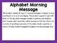 Alphabet Morning Message