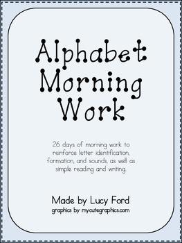 Alphabet Morning Work