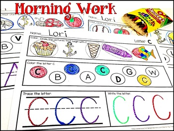 Alphabet Morning Work FREEBIE