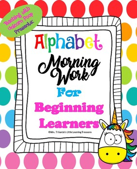 Alphabet Morning Work for Beginning Learners