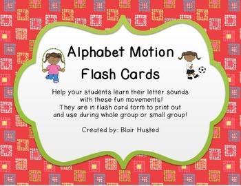 Alphabet Motion Flash Cards