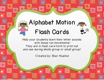 Alphabet Motion Flash Cards