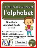 Alphabet Movement Cards (Kinesthetic Alphabet) - ENGLISH or FRENCH