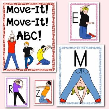 Alphabet Movement Yoga Cards: Multisensory Learning for PreK and Kindergarten