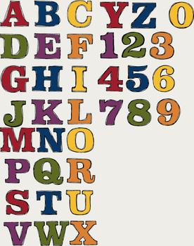 Alphabet Multi-color Set