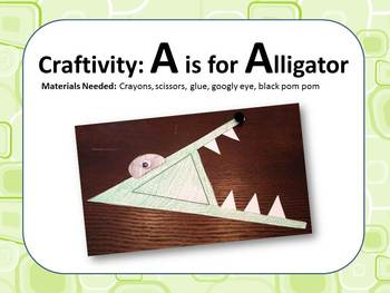 Alphabet & Music Pack - The Letter A - With Craftivity and Recordings!