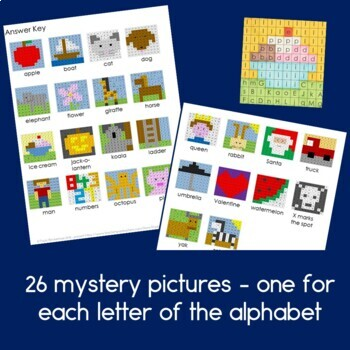 Alphabet Practice Pages - 26 Mystery Pictures