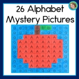 Alphabet Worksheets Mystery Pictures   Letters A-Z   Back