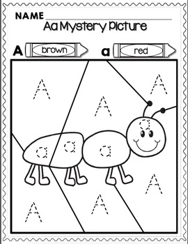 Alphabet Mystery Pictures for Transitional Kindergarten -TK- by Kinder League