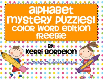 Alphabet Mystery Puzzles-Color Word Edition FREEBIE!