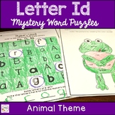 Letter Recognition Animal Mystery Puzzle