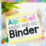 Alphabet NO FUSS Bench Marking Binder