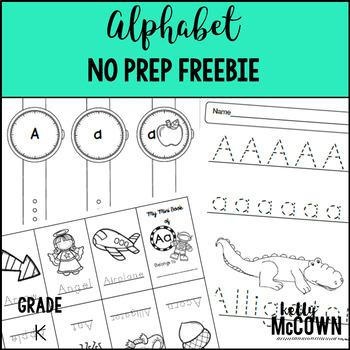 Alphabet NO PREP FREEBIE {The Letter A}
