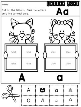 Alphabet NO PREP Letter Identification