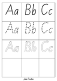 Alphabet NSW Foundation large Font tracing