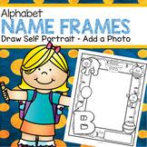 Alphabet Name Frames - Self Portraits, Beginning Letter of Name