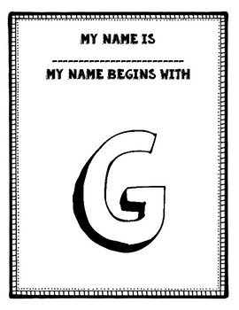 Alphabet Name Posters