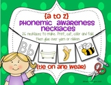Alphabet Necklaces {A TO Z} Phonemic Awareness and Alliteration Fun!!