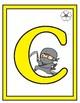 Alphabet Ninja Themed Cards