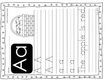 Alphabet No Prep Packet