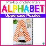 Alphabet No-Prep Printables plus centers: Uppercase Letter Puzzles