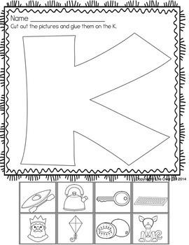 Alphabet No-Prep Printables plus centers: Velcro/Glue Letters