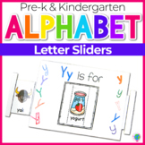 Alphabet No-Prep Printables plus centers for Letter Recognition: ABC Sliders