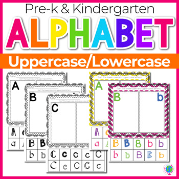 Alphabet No-Prep Printables plus centers for Letter Recognition: Alphabet sorts