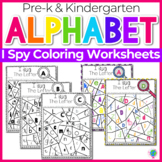 Alphabet No-Prep Printables plus centers for Letter Recognition: Letter I Spy!